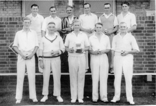 Wilburton cricket team - winners of the Kirkland Cup.