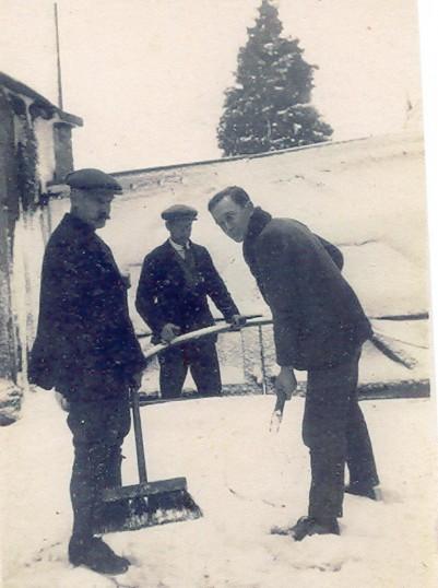 Gothard family snow clearing Wilburton