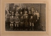 Wilburton school group with Mr Stow.
