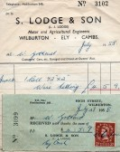 Bill from S . Lodge  of Wilburton for a roll of wire netting