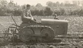 Jack Seppings of Wilburton on a Bristol Tractor on land at Stretham Road.
