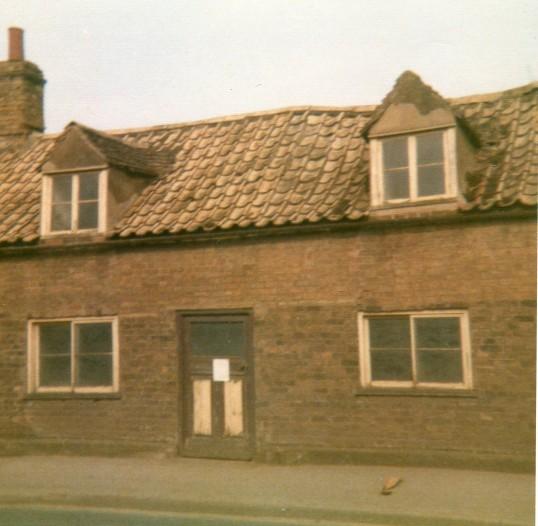 Cottage that was demolished on the corner of Clarke's Lane, High Street, Wilburton.