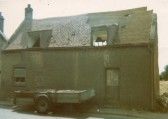 House in Wilburton High Street that used to stand to the right of The Kings Head pub.