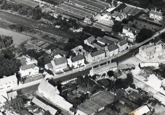 Aerial view of old school Wilburton.