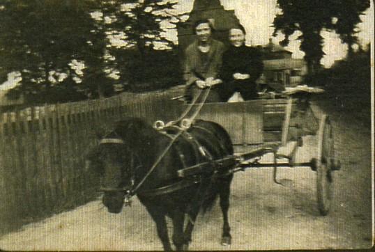 Everitts  having a ride behind Wilburton Church