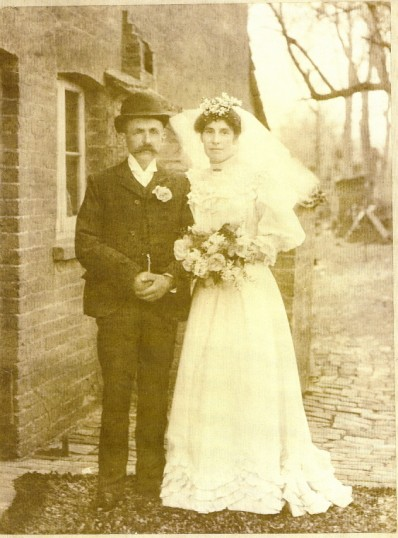 Wilburton wedding, Fred Sharp`s parents.