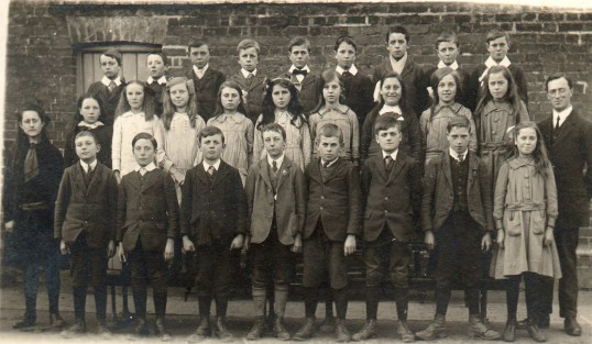 Wilburton School class. Teacher Mr Stowe.