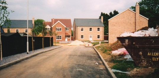 New buildings in Carpond Lane Wilburton