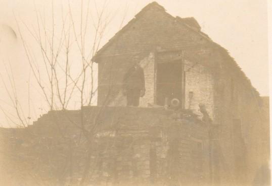 Old house in Wilburton High Street during demolition
