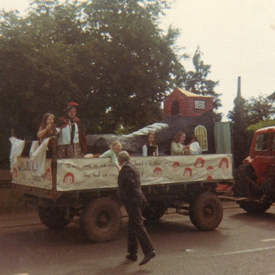 Wilburton feast parade with girl guides