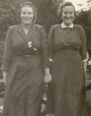 Two friends at Wilburton garden fete.