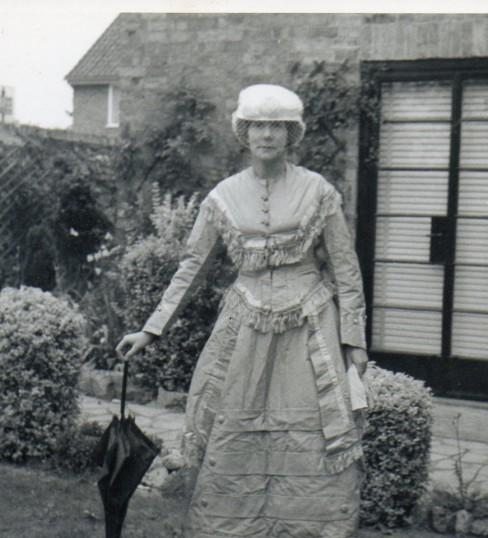 Dolly Ashman of Wilburton dressing up.