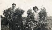 Men with sheaves of corn Wilburton.