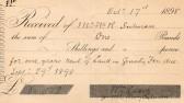 Receipt for land rent at Wilburton