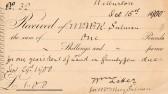 Receipt for land rent at Wilburton.