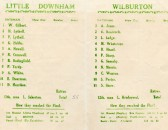 Kirkland cup programme, between Little Downham and Wilburton.