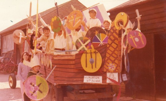 Wilburton feast parade, viking float