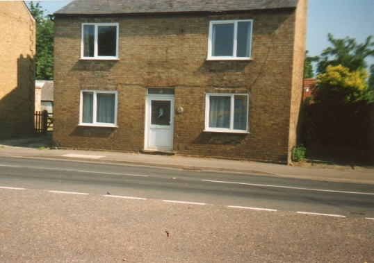 The house that used to be The Red Lion public house in Wilburton.
