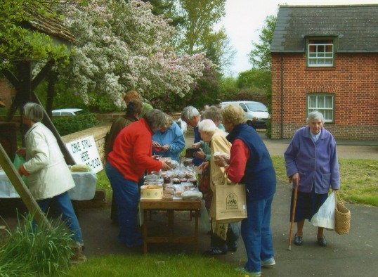 Wilburton Church fund raising with a cake and preserve stall