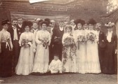 Mr. & Mrs Fitch Everitt in their wedding  group