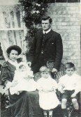 Mr & Mrs Fitch Wm Everitt of Wilburton with family.
