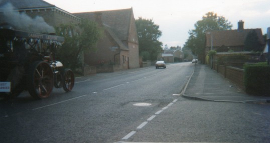 Traction engine going through Wilburton
