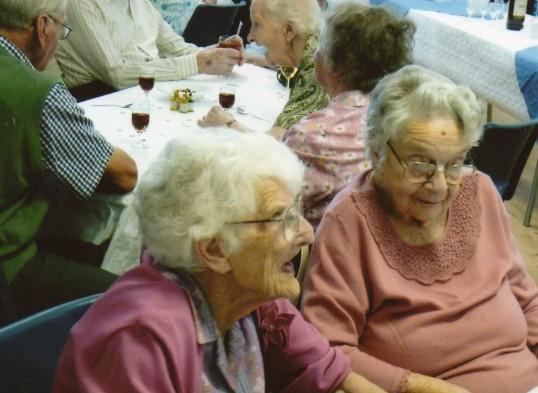 Sisters of Frank Yarrow at his 100th birthday at Wilburton.