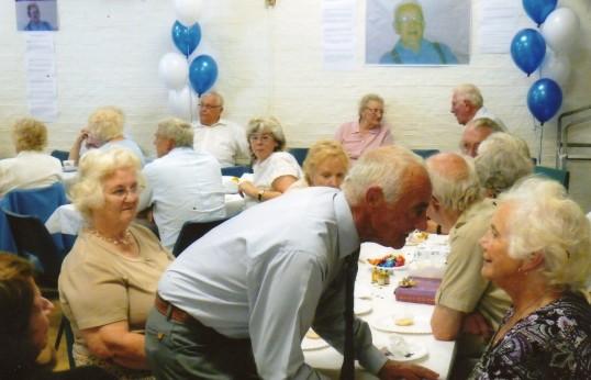 People at Frank Yarrow's 100th birthday party at Wilburton.