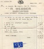 Bill from R . Webber of Wilburton.