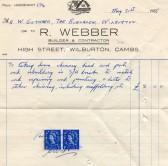 Bill from R. Webber of Wilburton.