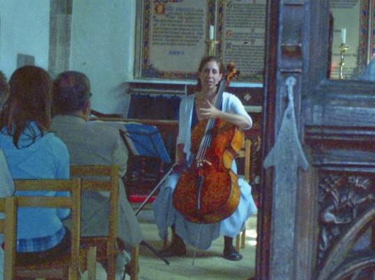 Musical entertainment at Wilburton Church .