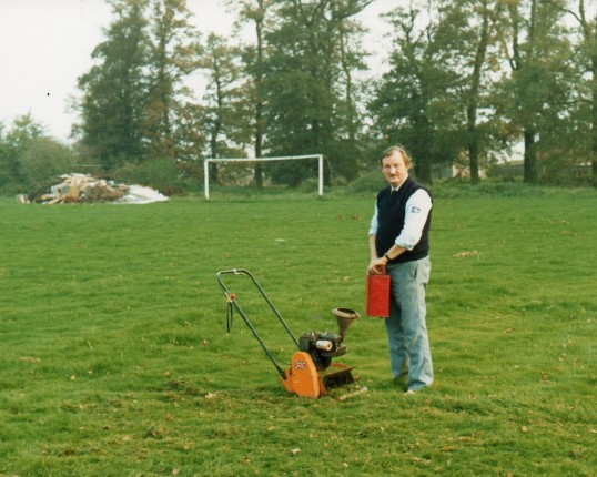 Fred Stokes, groundsman at playing field Wilburton