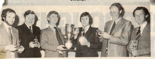 Wilburton Annual cricketers awards.