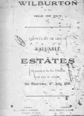 Front page of document of deeds for sale of land around Wilburton.