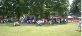 BBQ (including hog roast), bouncy castle and toddler play area at the 2005 Wilburton Beer Festival.