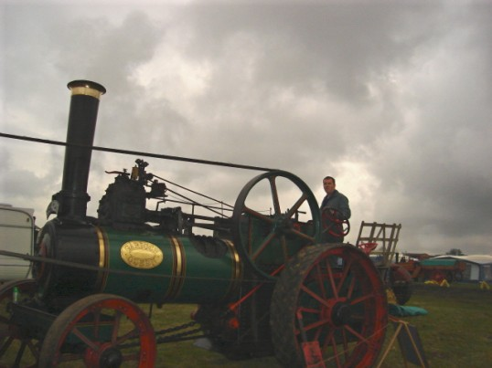 Steam Traction Engine at the Haddenham Steam Rally, 2008 - owned by Barry Peacock of Wilburton.
