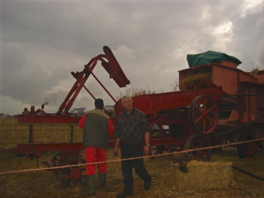 Straw bailler at the Haddenham Steam Rally, 2008 - owned by Barry Peacock of Wilburton.