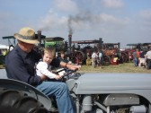 Pete Warren and Grandson George on a 1953 Ferguson tractor at the 2007 Haddenham Steam Rally