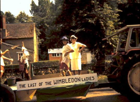The Last of the Wimbledon Women - float at the Feast Parade