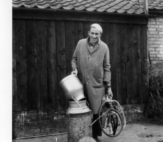 John Seppings the village milkman Wilburton.