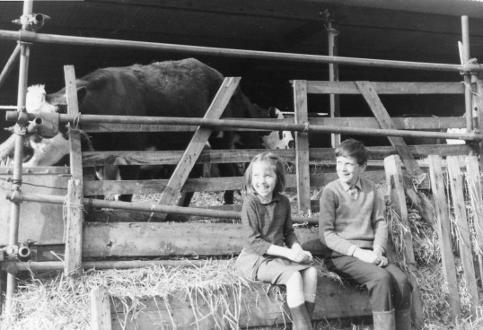 Pandora and Clive Seppings on the farm at Florence house