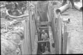 Laying the Sewer Pipes 1968