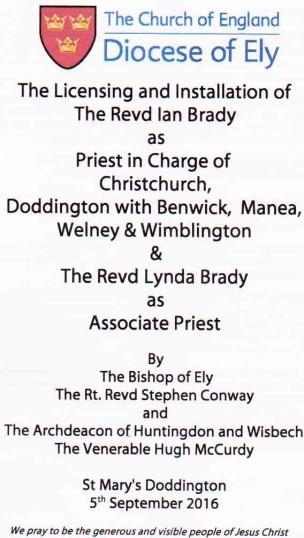 Licensing Service for Ian and Lynda Brady
