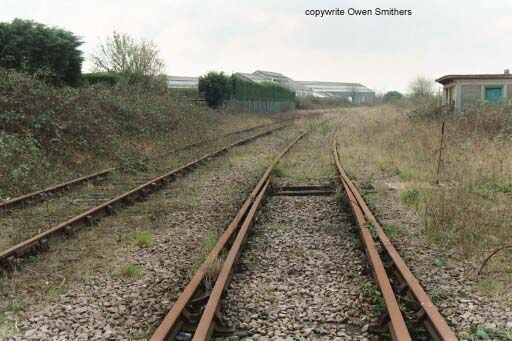End of track for the Wisbech to March branch 2004 Copyright Owen Smithers