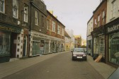 Wisbech Hill Street on a Sunday Morning looking North. Photo by 8 year old Erin Lakey.