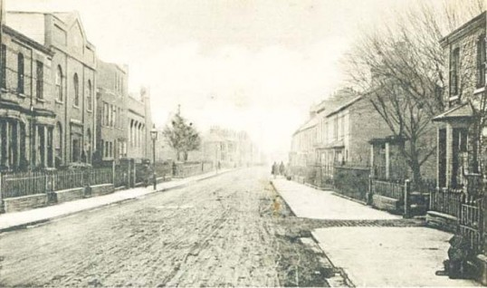 Bennit Bros Post Card of Victoria Road Wisbech
