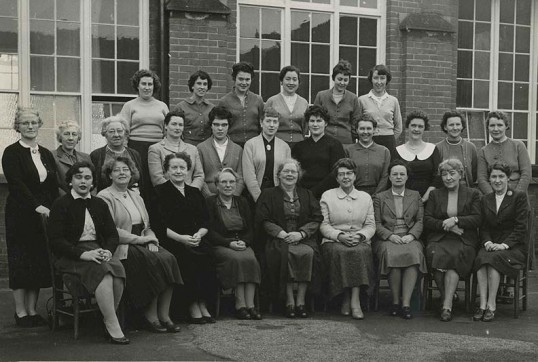 Wisbech Queens Girls School Staff 1959. Photo Fenland Museum Wisbech