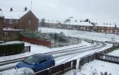 Wisbech Waterlees estate snow view.copyright Owen Smithers