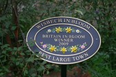 Wisbech in Bloom 2009.Winners plaque for the Best Town.Copyright Owen Smithers