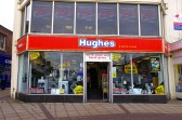 Wisbech Market Place Shops 'Hughes Electrical'. Copyright Owen Smithers